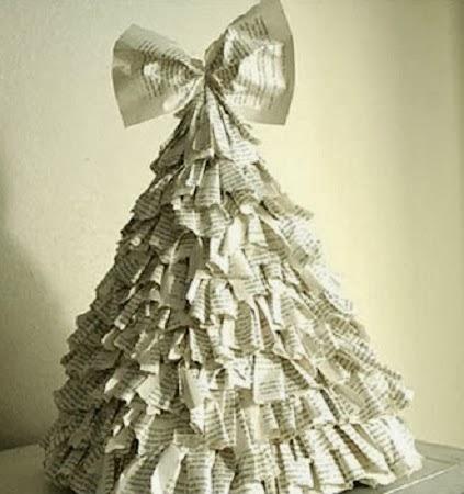 10 rboles de navidad hechos con papel de peri dico - Arbol de navidad con papel ...