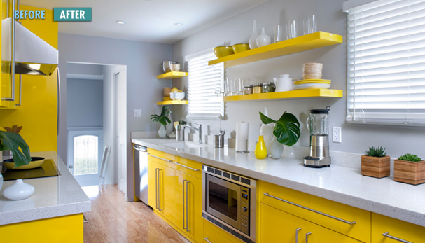 clean lines and cheerful color scheme i can 39 t imagine this kitchen