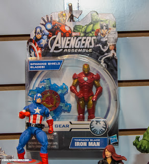 Hasbro 2013 Toy Fair Display Pictures - Avengers Assemble figures