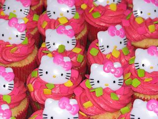 Hello Kitty cute sweet cupcake