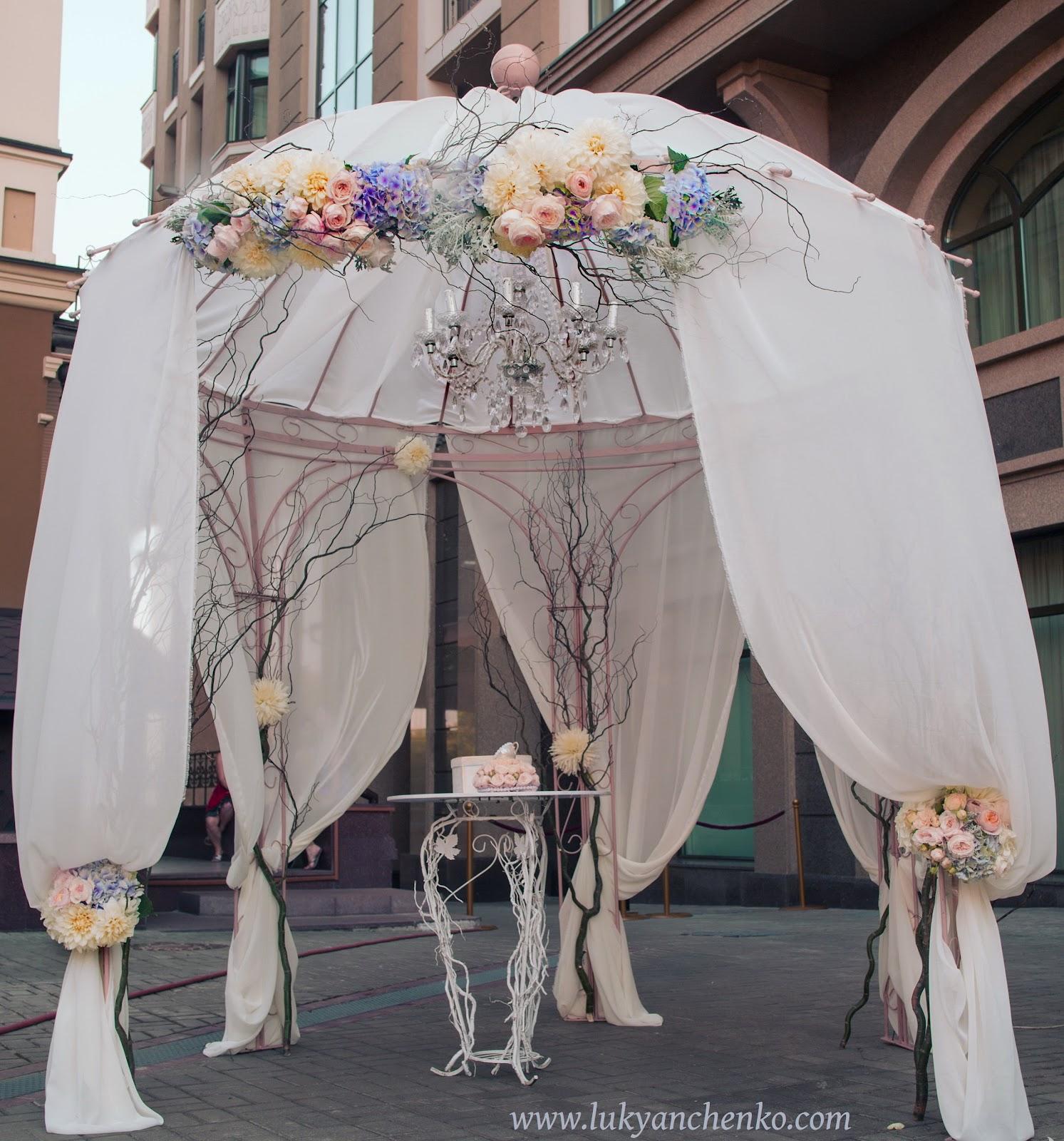 Чем украсить шатер на свадьбу своими руками 460
