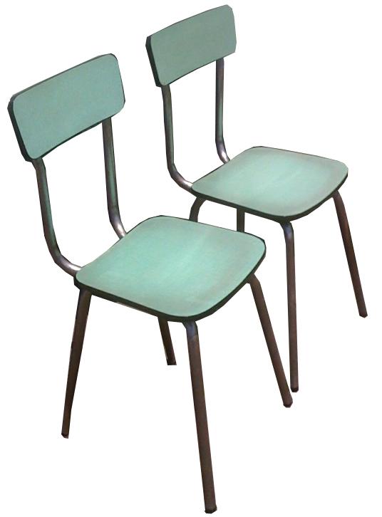 bo vintage chaises en formica vert p le. Black Bedroom Furniture Sets. Home Design Ideas