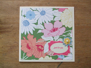 Stampin' Up! card - retiring cardstock