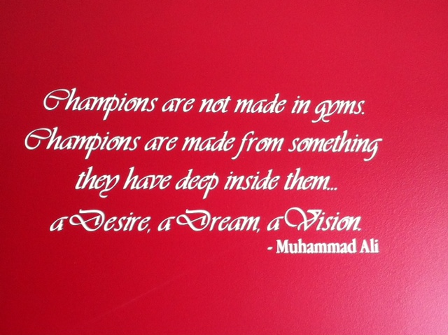 Muhammad Ali Vinyl Wall Decal