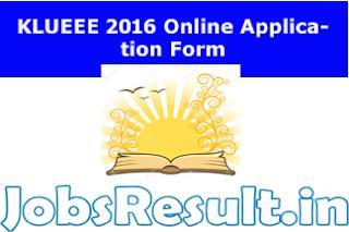 KLUEEE 2016 Online Application Form