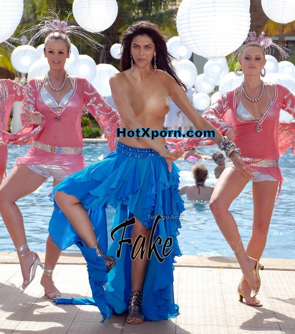 Nude Deepika Padukone without clothes dancing on side