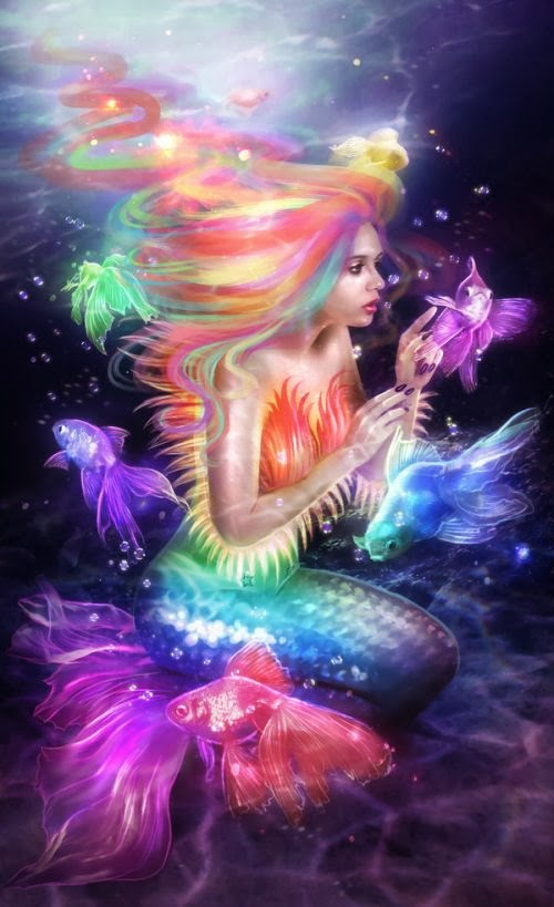 Lilia Osipova deviantart photo manipulations photoshop illustrations fantasy surreal psychedelic Psychedelic siren