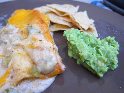 Easy way to use cooked, shredded chicken: Homey Lime Chicken Burritos