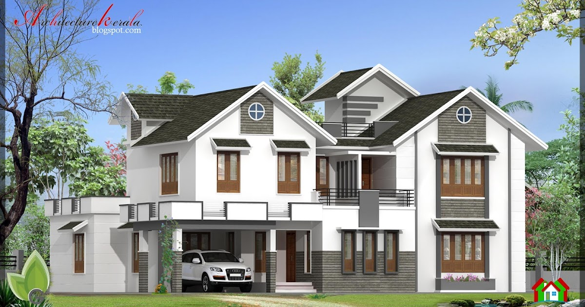 3000 SQ FT HOUSE ELEVATION - ARCHITECTURE KERALA
