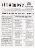 Ed è.. SAGRA DI BAGGIO 1988!
