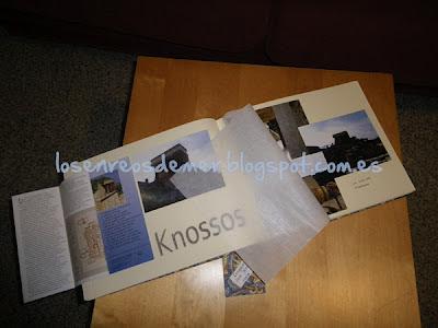 Interior de álbum de fotos realizado en cartonaje