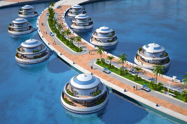 "Luxury Resort ""Amphibious 1000″ in Qatar 