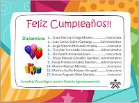 Feliz Cumpleaños a Nuestros Compañeros