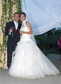 epa soccer 2013 07 2013 07 13 2013 07 13 03787130 epa صور حفل زفاف تشافة هرناندس نجب برشلونة على نوريا كونييرا بحضور نجوم الكرة العالمية