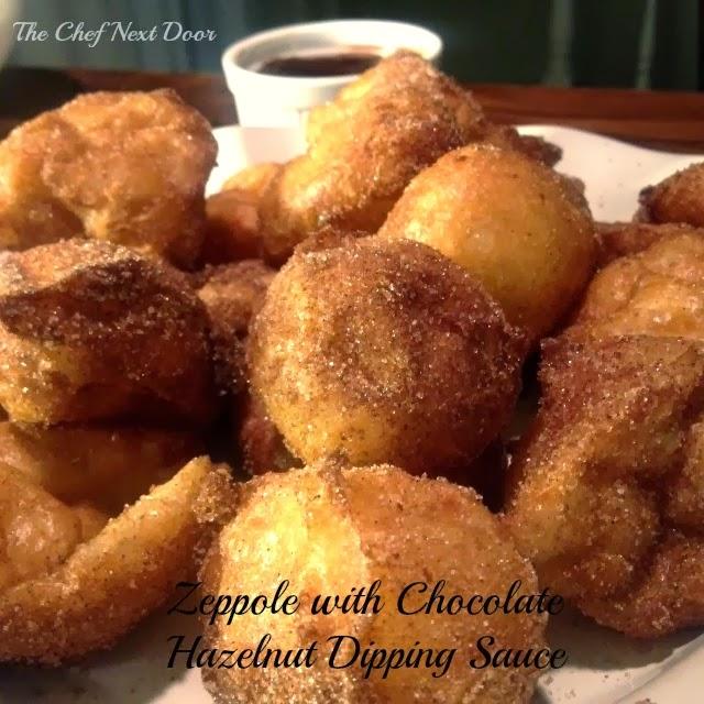 Zeppole With Chocolate Sauce Recipe — Dishmaps