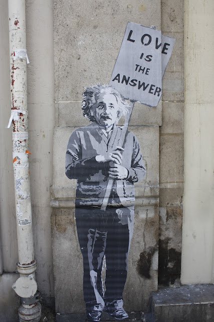Paris wall art Albert Einstein love
