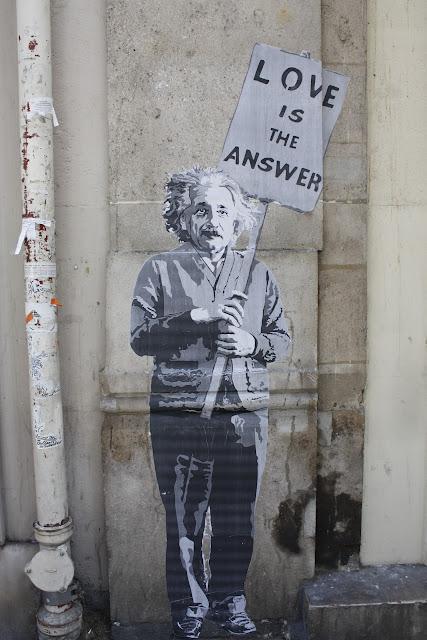 Paris wall art Albert Einstein love