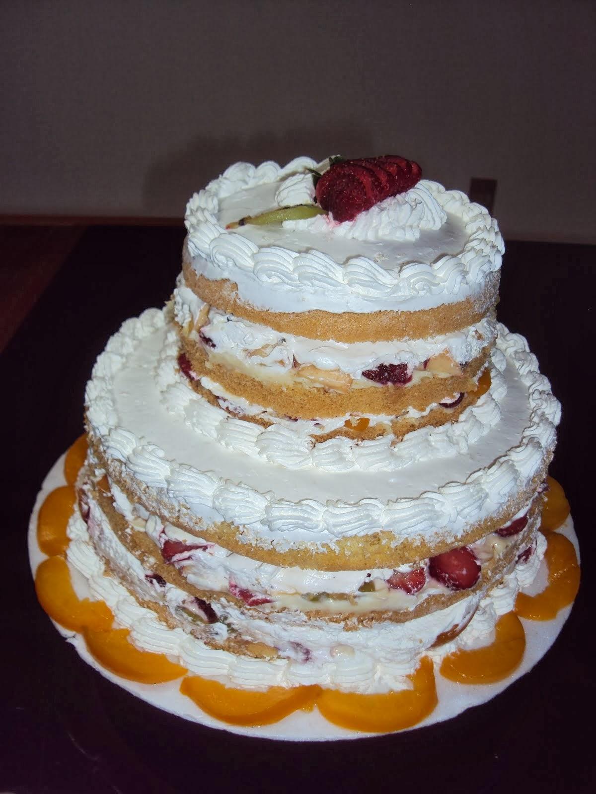 Naked cake ou bolo pelado