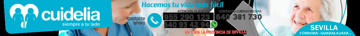 CUIDELIA · 955 290 123 · Cuidado de mayores en Sevilla