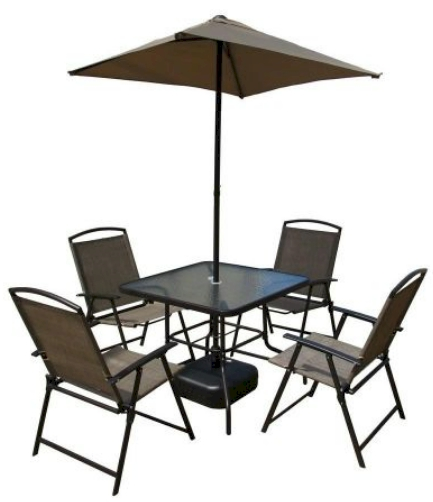 Fresh  piece patio dining set with umbrella for with free store pickup