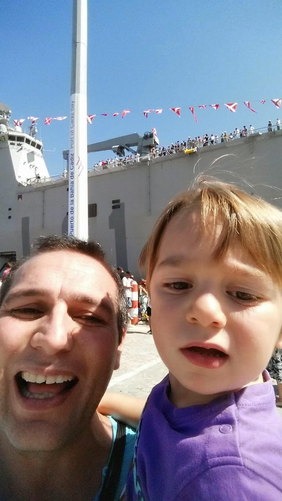 Con Mi hijo en LA VUELTA 2014