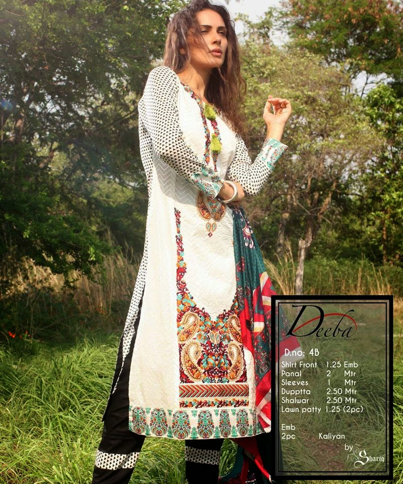 Deeba Premium Summer Lawn Women Dresses 2015