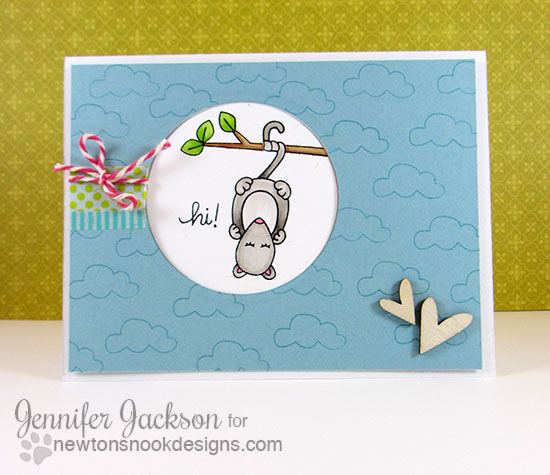 Possum by Jennifer Jackson for Newton's Nook Designs |  Hanging Around Stamp Set