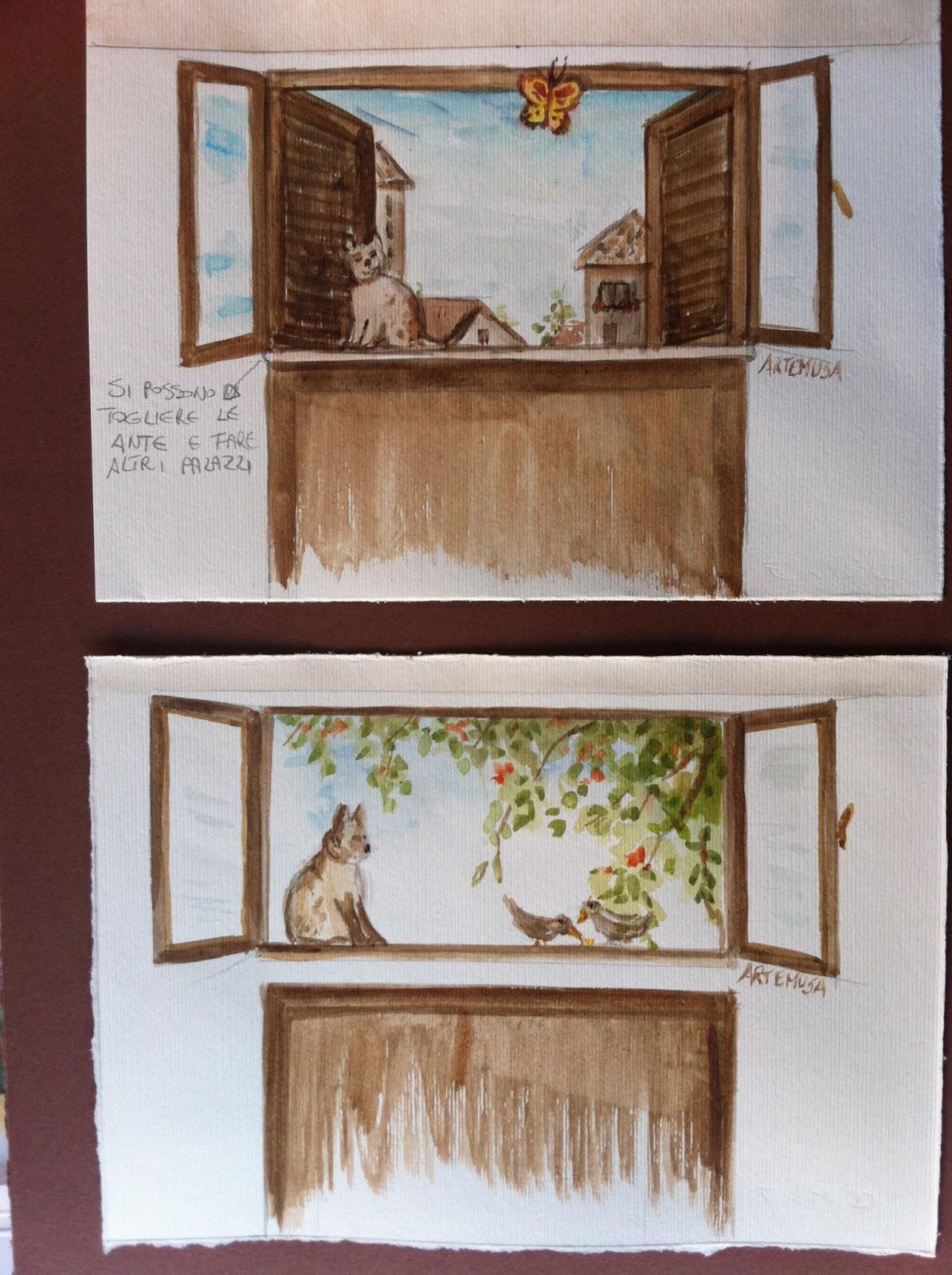 Artemusa decorazioni finestra trompe l 39 oeil - Trompe l oeil finestra ...