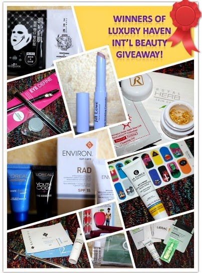 luxury haven beauty skincare giveaway winners