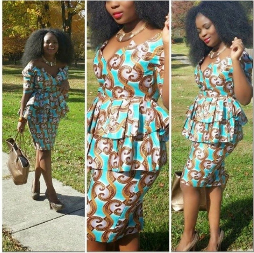 Nigerian Ankara Skirt And Blouse Styles 2016 Silk Blouses