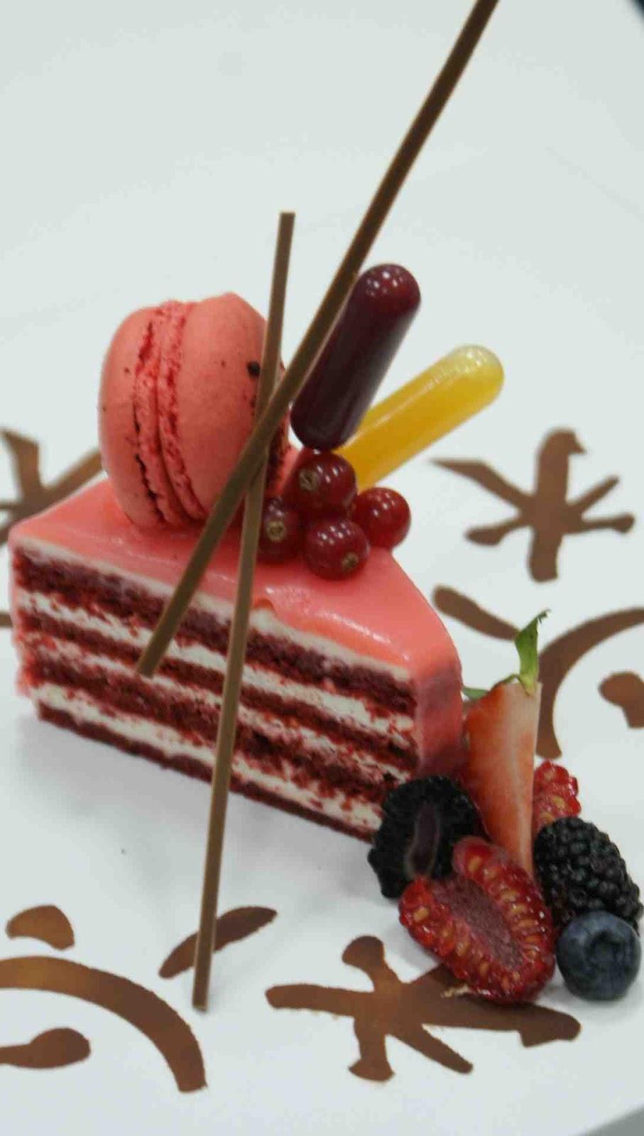 Plated Red Velvet Cake