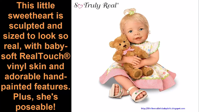 So Truly Real Lifelike Baby Doll With A Recordable Bear Realistic Dolls What A Doll Reborn Star Doll