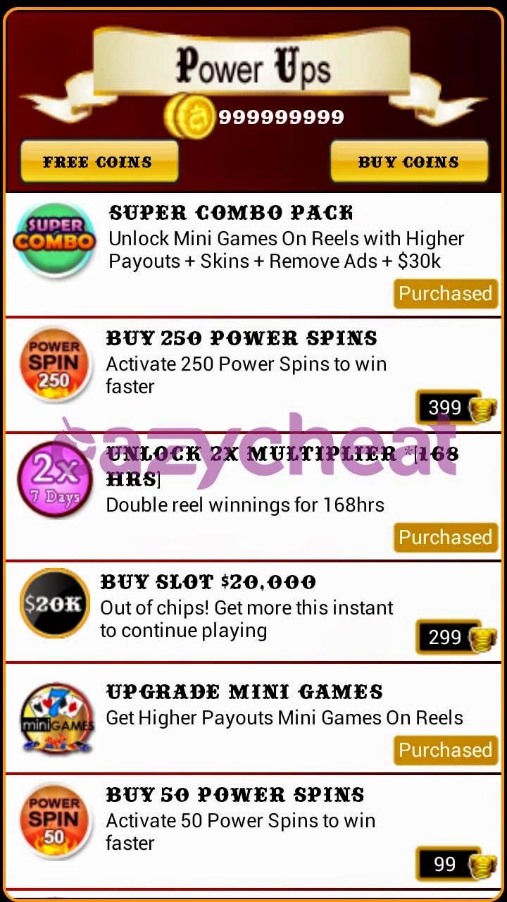 slot machine cheats android