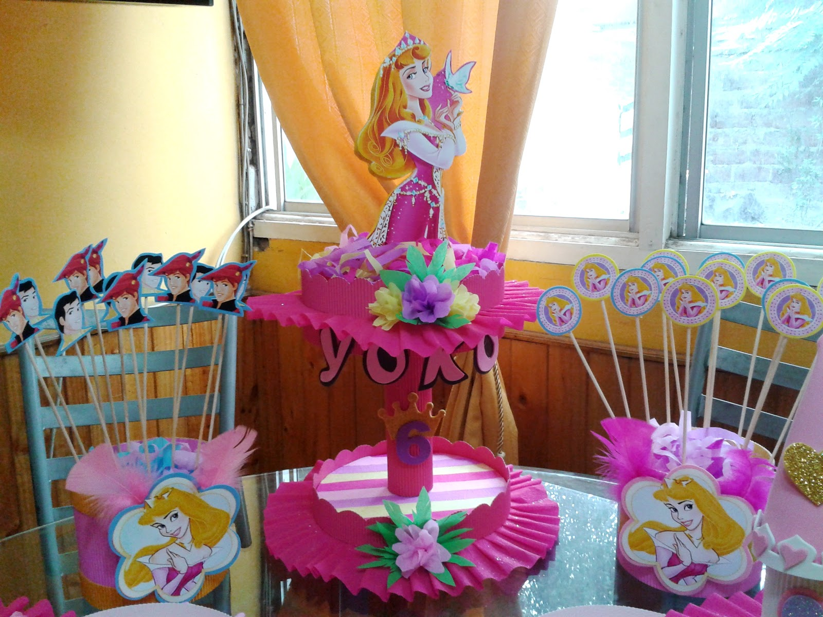 Decoraci n de fiestas infantiles princesas aurora imagui for Decoracion cumpleanos princesas