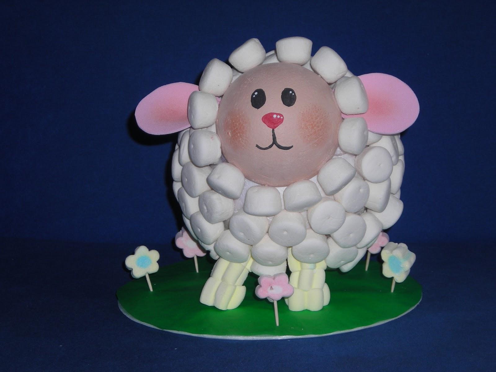 Dulce novedad novedosas ovejitas con malvaviscos - Como hacer una oveja ...
