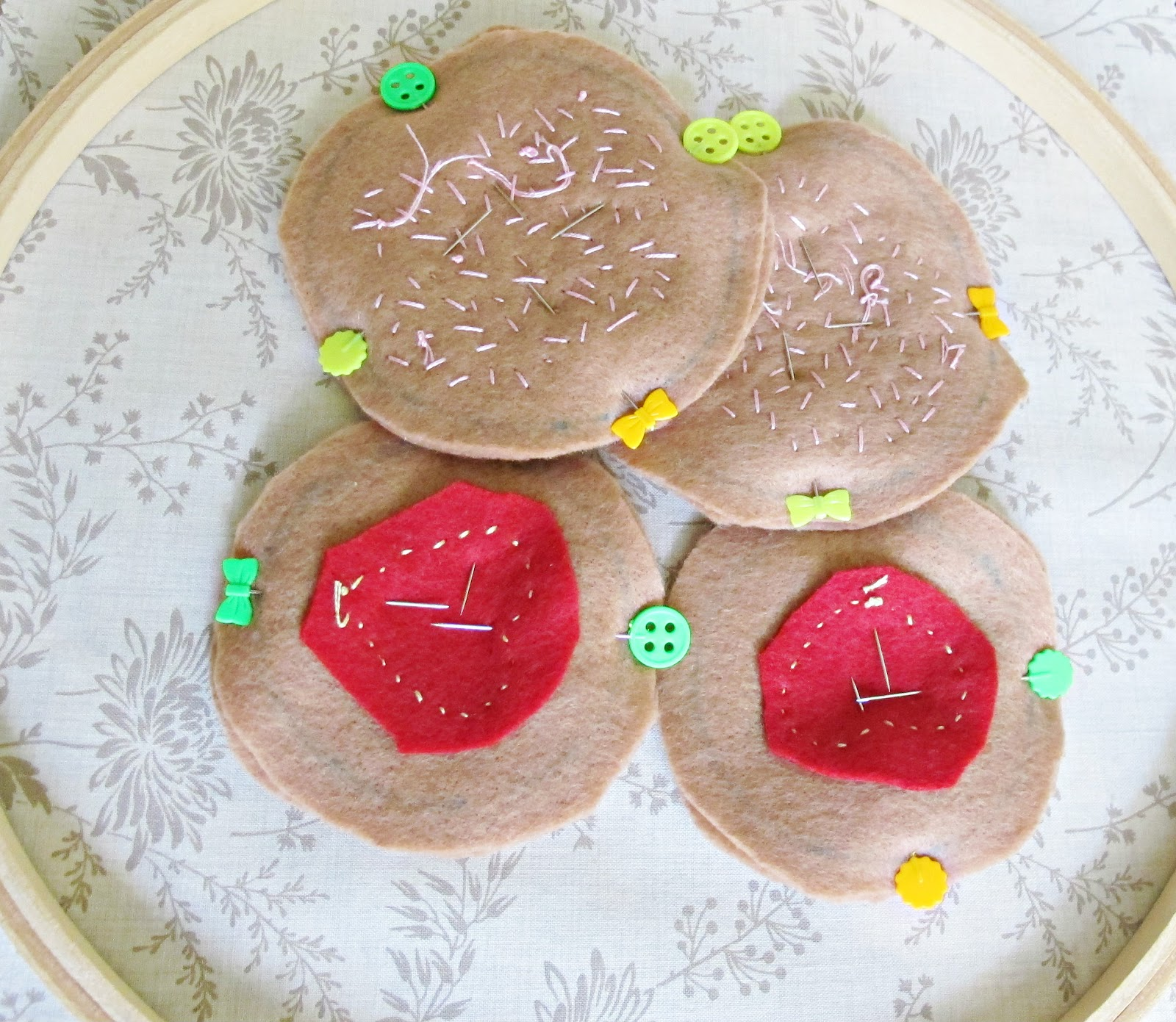 image felt food toys biscuits cookies iced jam