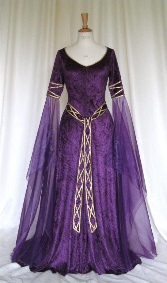 Medieval Wedding Dresses Mthat Are Purple 80