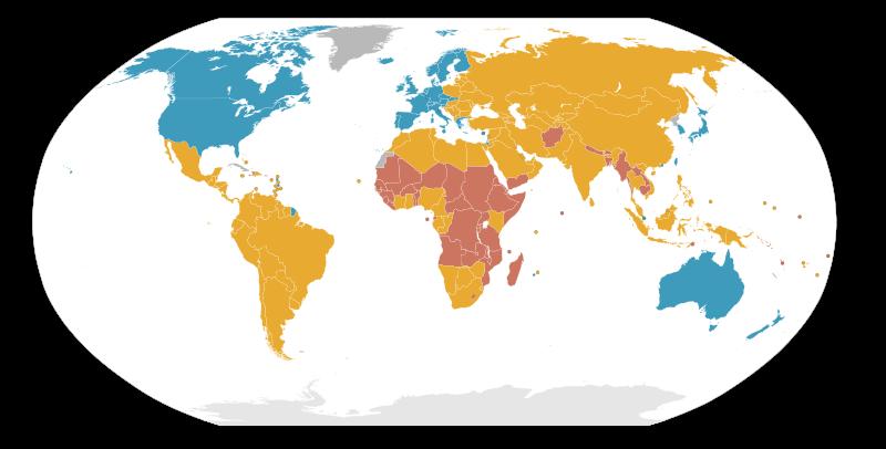 Daftar Negara Maju Negara Berkembang