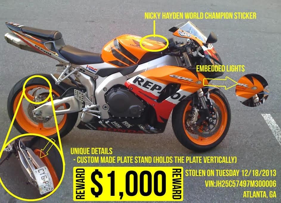 Stolenmotorcyclenet Honda Vin Jh2sc57497m300006