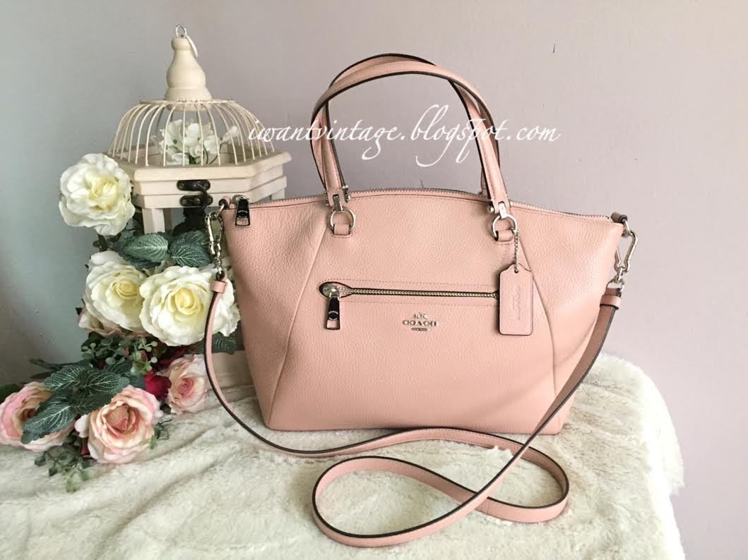 Coach F31467 Pink Petal Pebble Leather Satchel Tote Shoulder Bag Handbag $398