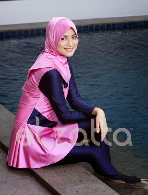 baju-renang-muslimah-elzatta-warna pink