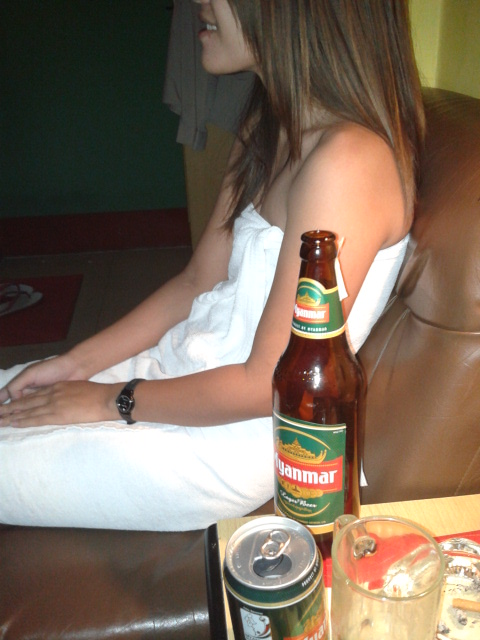 Myanmar beer girl