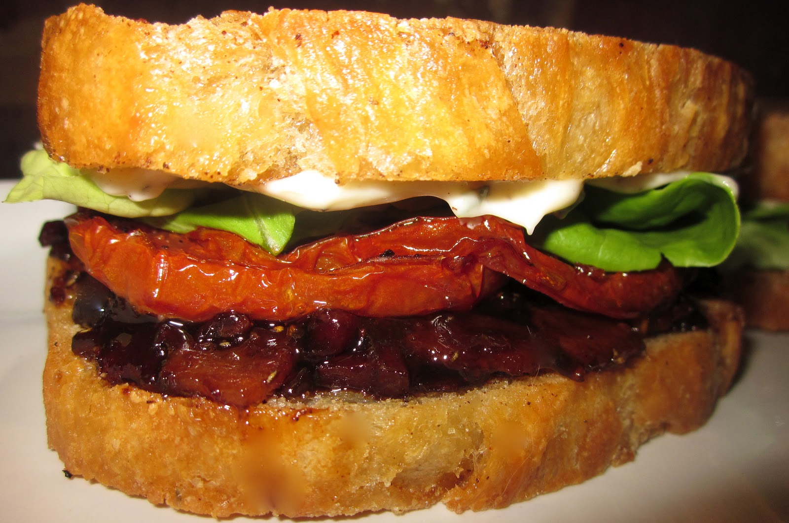 Haute + Heirloom: Bacon Jam BLT's with Slow Roasted Tomatoes, Fried ...