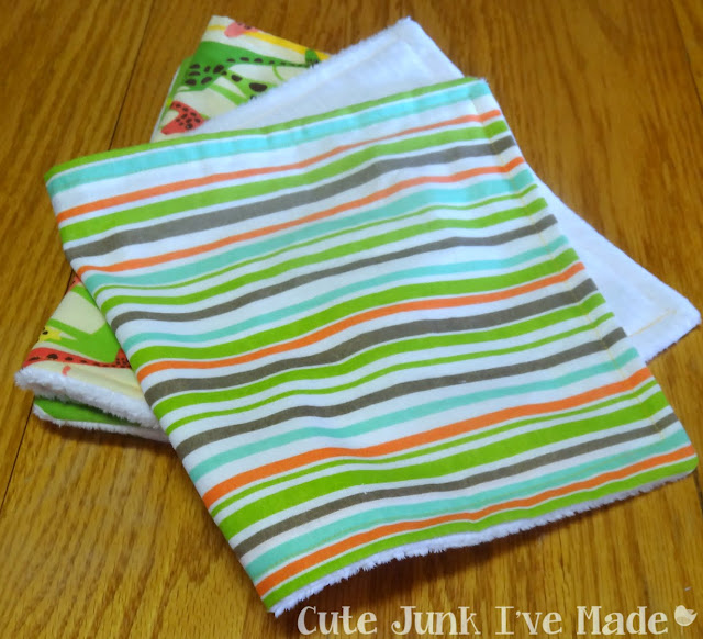 One-Hour Burp Cloths - Finished burp cloths, folded in half