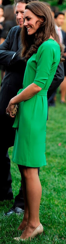 Kate Middleton wearing green DVF dress Get the Look