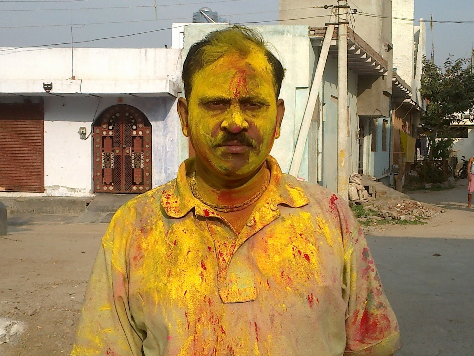 Holi in nidhivan, Bihari ji, vrindavan 4