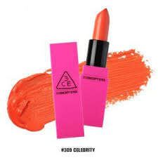 3CE Pink Lip Color Matte 309 Celebrity ASLI ORIGINAL