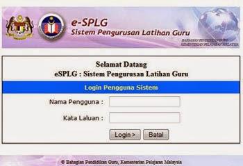Maklumat Kursus secara online e-SPLG