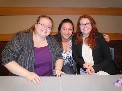 Beth Revis, Penelope Lolohea, and Andrea Cremer
