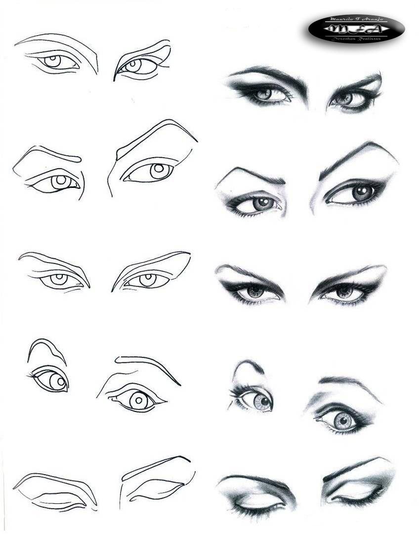 Desenho Realista Aprendendo A Desenhar Rostos E Faces